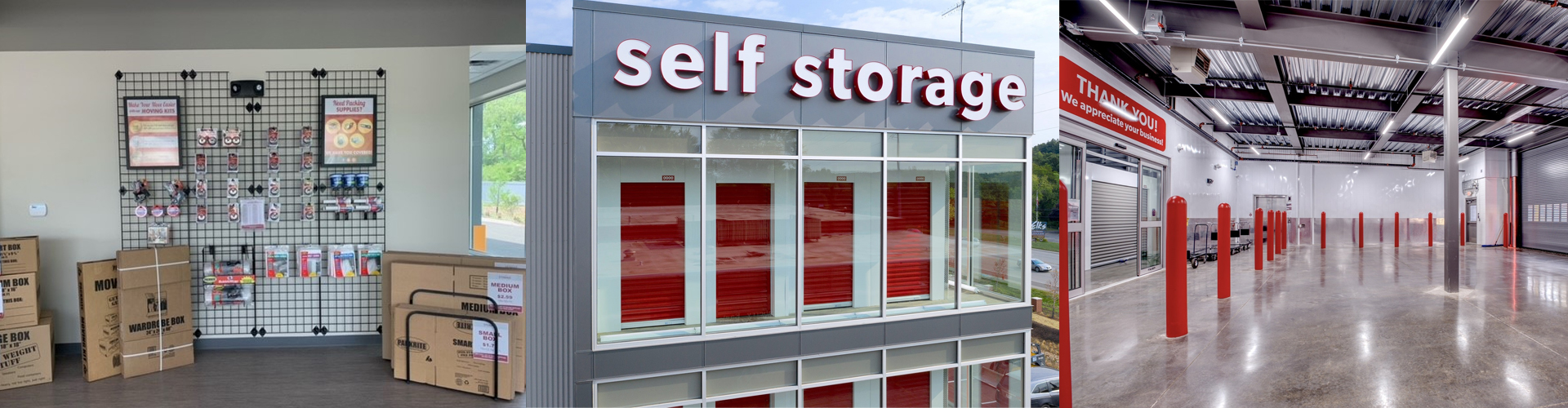 Storage Rental Office and Interior Loading Dock Area